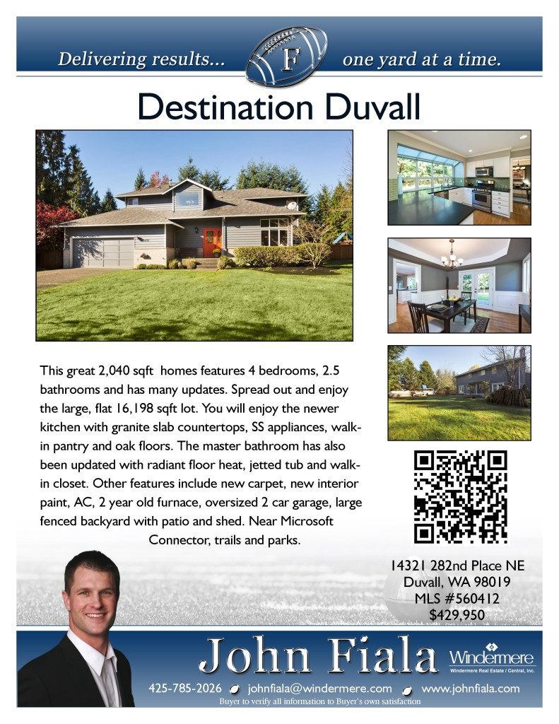14321 282nd Place NE Duvall, WA 98019Presented by John Fiala