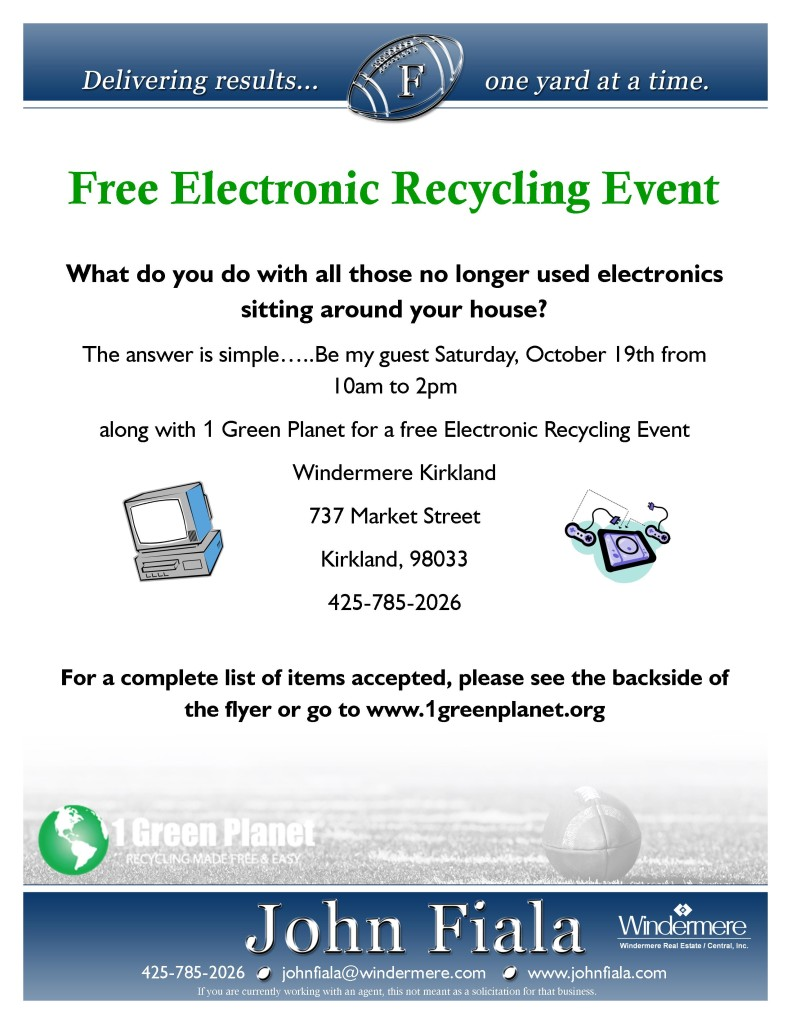 Free Electronic Recycling Event