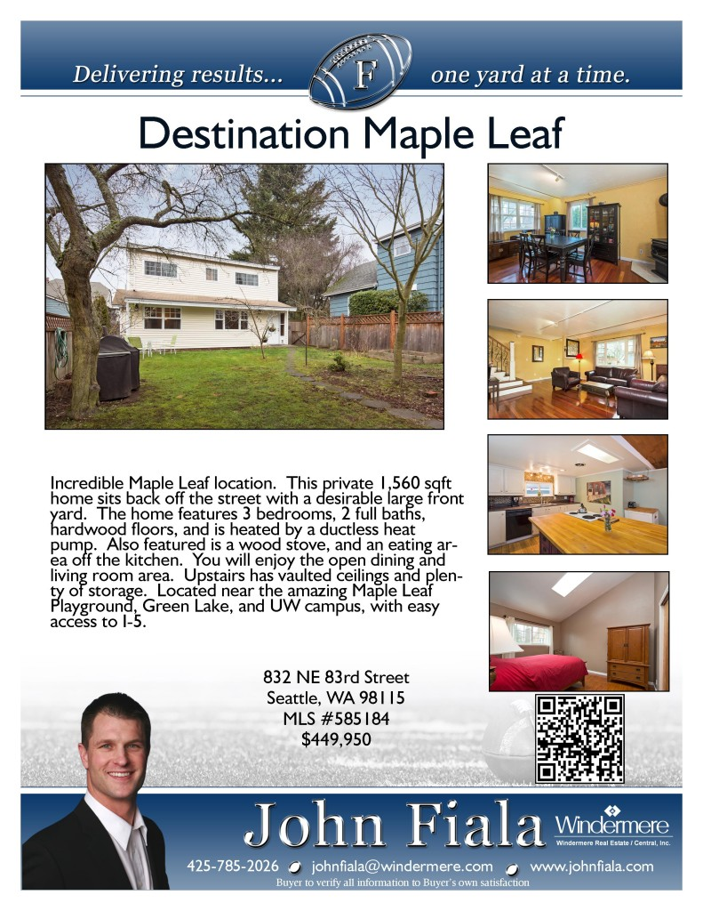 Maple Leaf Home for Sale