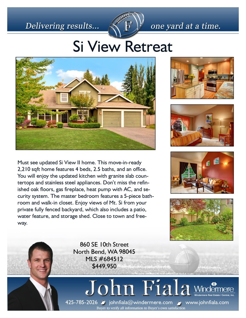 860 SE 10th Street North Bend, WA 98046