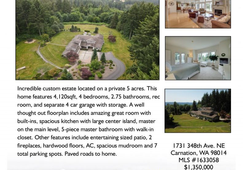 1731 348th Ave. NE Carnation WA 98014